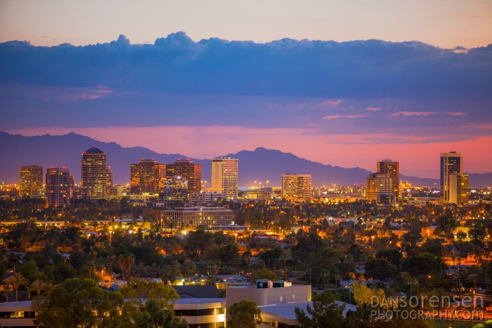 Midtown Phoenix Skyline at Night