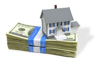 home on a stack of cash