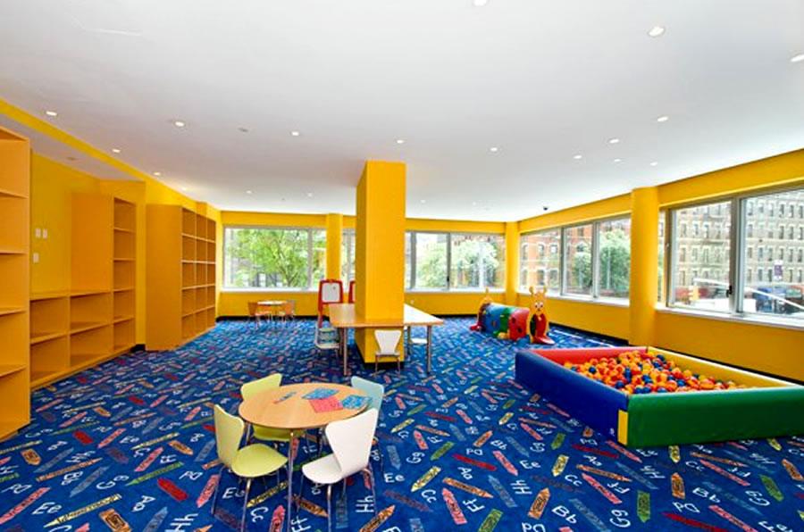 Modern Residential Kids Play Room Interior Design Azure
