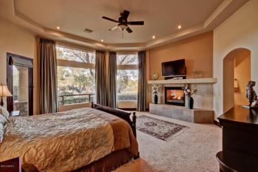 Luxurious master suite.
