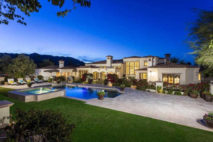 Blending Mediterranean and Country French architecture in Paradise Valley 1
