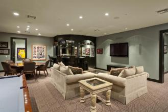 Magnificent Scottsdale Estate Features an indoor basketball court with lounge and full bar
