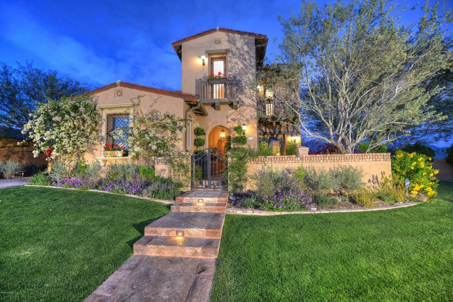 $2.05M Italian inspired villa in the Haciendas at DC Ranch in North Scottsdale.