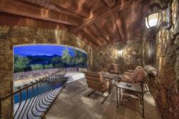 Block construction with all natural stone exterior home in Whisper Rock 10