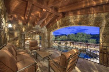 Block construction with all natural stone exterior home in Whisper Rock 11