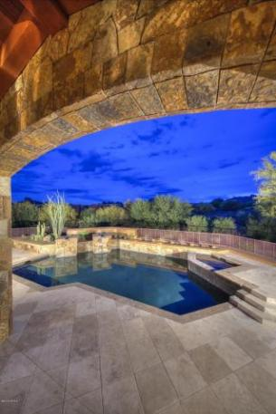Block construction with all natural stone exterior home in Whisper Rock 19