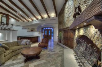 Block construction with all natural stone exterior home in Whisper Rock 5