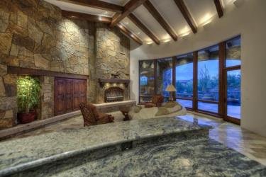Block construction with all natural stone exterior home in Whisper Rock 6