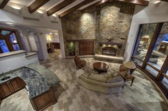 Block construction with all natural stone exterior home in Whisper Rock 7