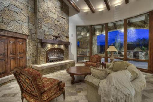 Block construction with all natural stone exterior home in Whisper Rock 8