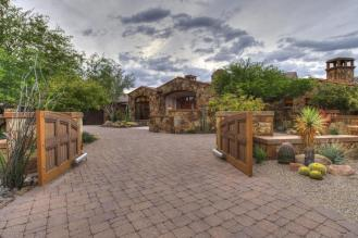 Block construction with all natural stone exterior home in Whisper Rock