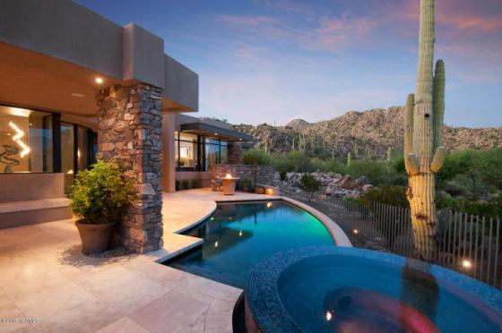 2 15 million contemporary nestled in the boulders of tucson az private stone canyon golf community