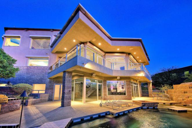 Feast your eyes on this modern masterpiece from the hillside of Squaw Peak