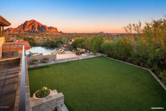Contemporary house of steel & wood on rare hillside flat Paradise Valley grounds asking a whopping $7.5M 1