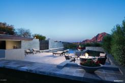 Contemporary house of steel & wood on rare hillside flat Paradise Valley grounds asking a whopping $7.5M 4
