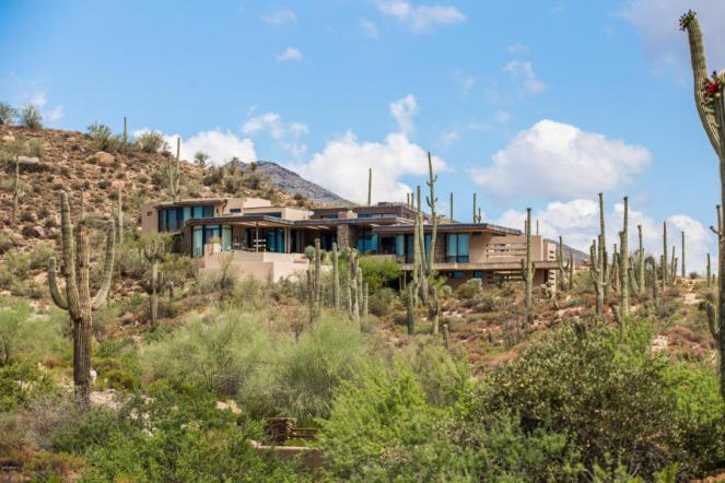 $4.6M Stunning mountain top gem designed by architect Bing Hu can be your next Desert Mountain trophy property.