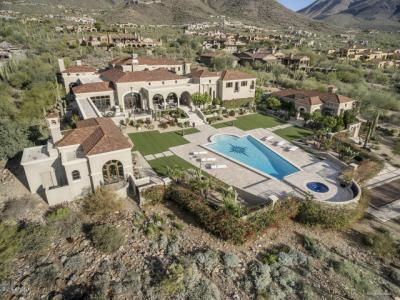 This CONTEMPORARY MEDITERRANEAN GLAMOUR AND SOPHISTICATION OF THIS UPPER CANYON ESTATE ON TWO OF THE FINEST VIEW LOTS IN THE PRESTIGIOUS SILVERLEAF COMMUNITY sold for $11.1 Million