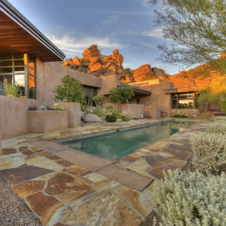 Auction planned for Carefree contemporary southwest architecture house with Award-Winning Landscape 9