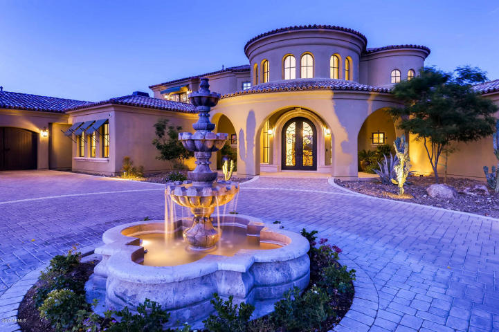 $1.7 million Mediterranean entertainers dream lavish home in Peoria, AZ 1