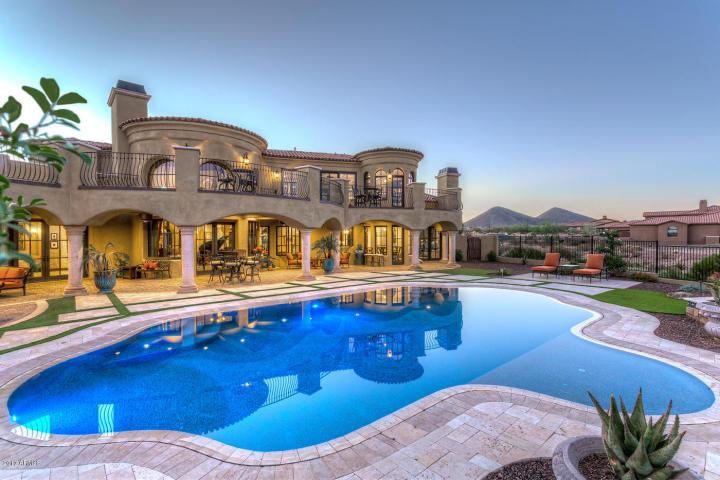 $1.7 Million Mediterranean Entertainers Dream Lavish Home In Peoria, AZ.