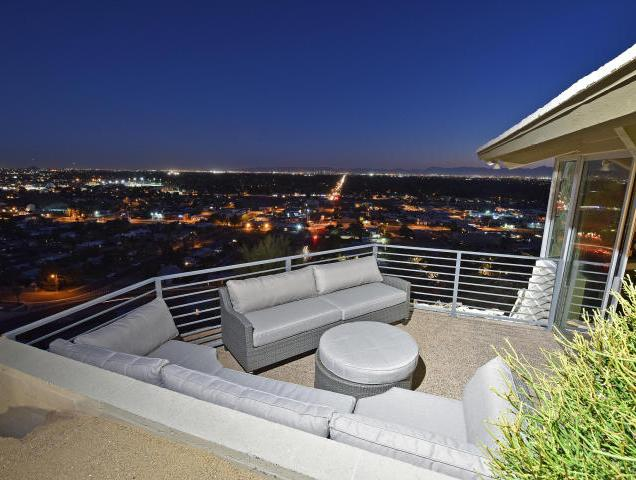 Mid-Century Modern design by Paul Christian Yeager sits on one of the highest view sights in North Phx 17