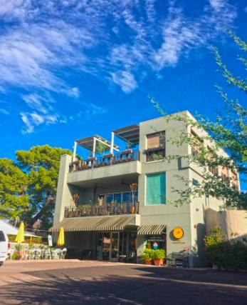Three-story mix use industrial style Penthouse & Retail building in Old Town Scottsdale