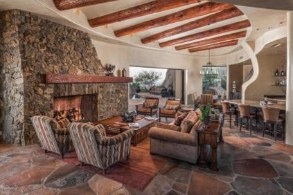 Insane Views from this Picture perfect Carefree Southwest contemporary surrounded by boulders 12