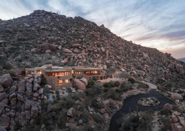 Insane Views from this Picture perfect Carefree Southwest contemporary surrounded by boulders